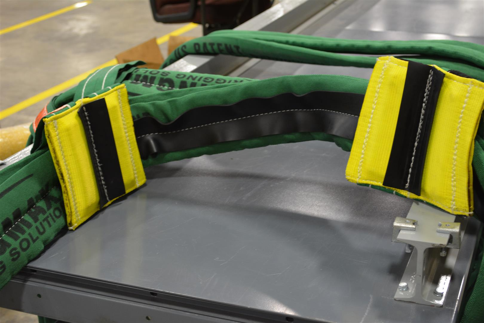No-Slip twin-path sling and cornermax pads