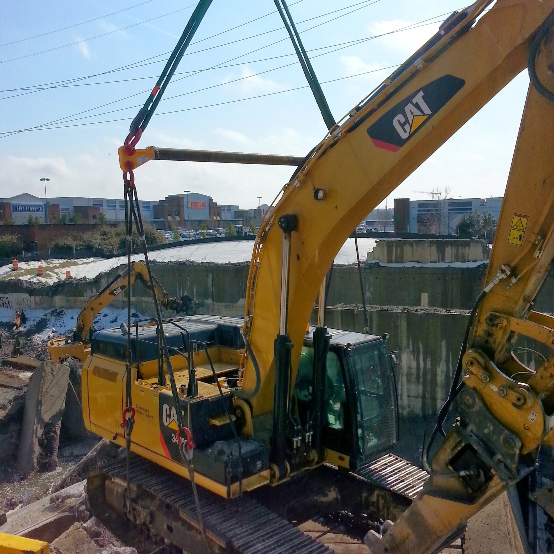 Excavator wire rope